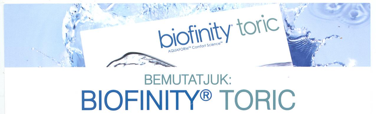Bemutatjuk: Biofinity Toric