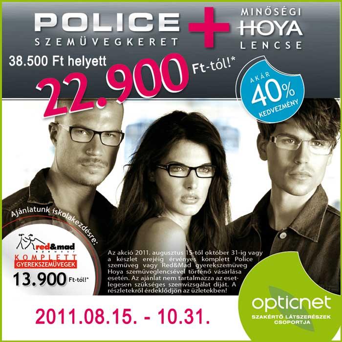 police szemüveg és red&mad gyerekszemüveg akció
