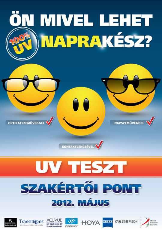 Országos ingyenes UV-teszt és szaktanácsadás 2012.