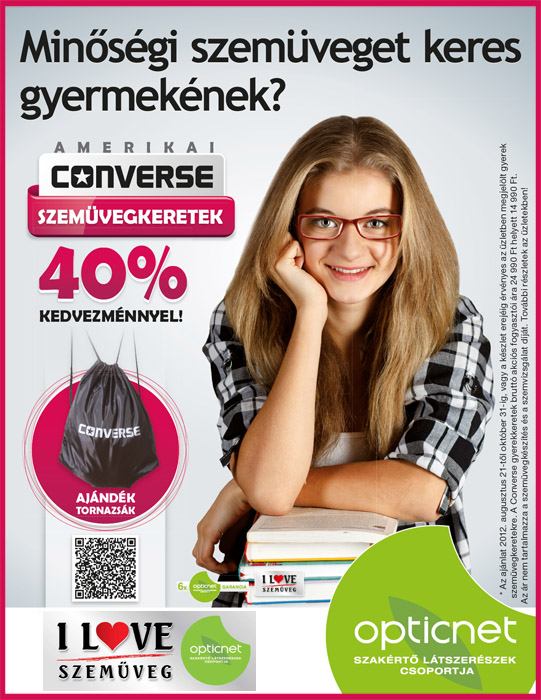 Iskolakezdéshez Converse szemüveg akció