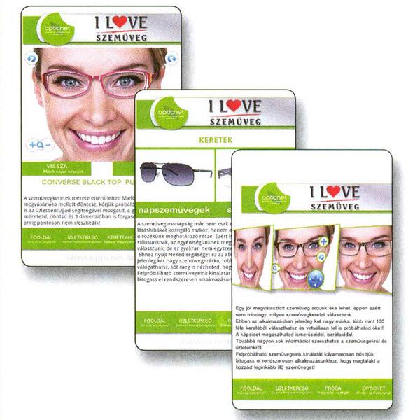 Applikációval trendi szemüveget