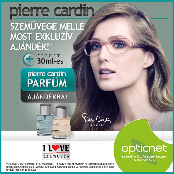 Pierre Cardin szemüvegéhez most ajándék Pierre Cardin parfüm jár!