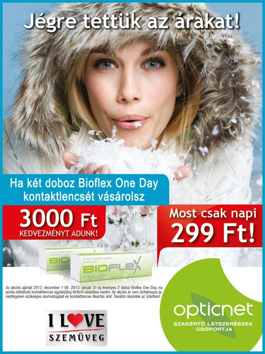 Jégre tettük a Bioflex kontaktlencse árát!
