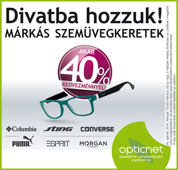 Divatba hozzuk a márkás szemüvegkereteket!