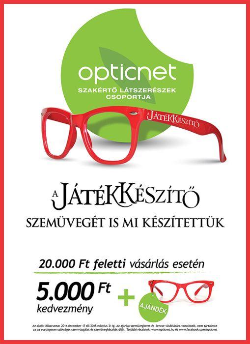 A Játékkészítő szemüvegét is az Opticnet-nél kell keresni