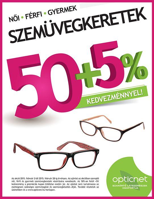 Szemüvegkeretek 50+5% kedvezménnyel!