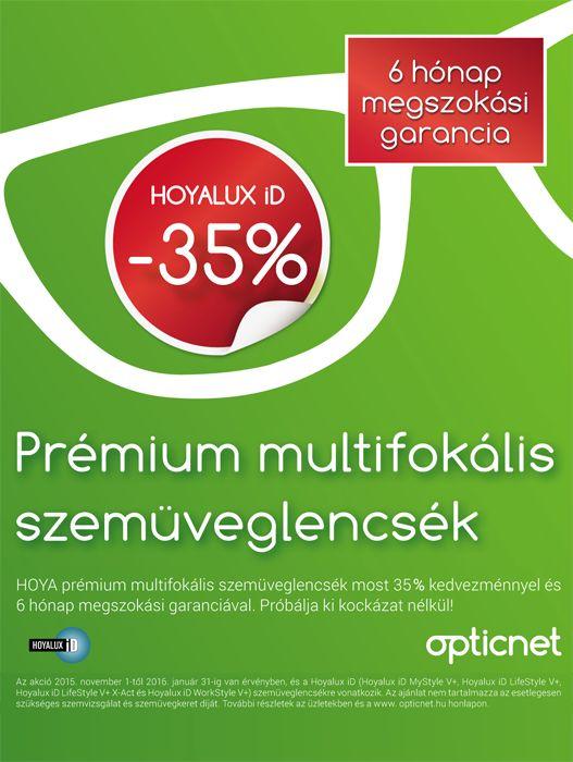 Hoyalux iD prémium multifokális szemüveglencsék óriási akcióban