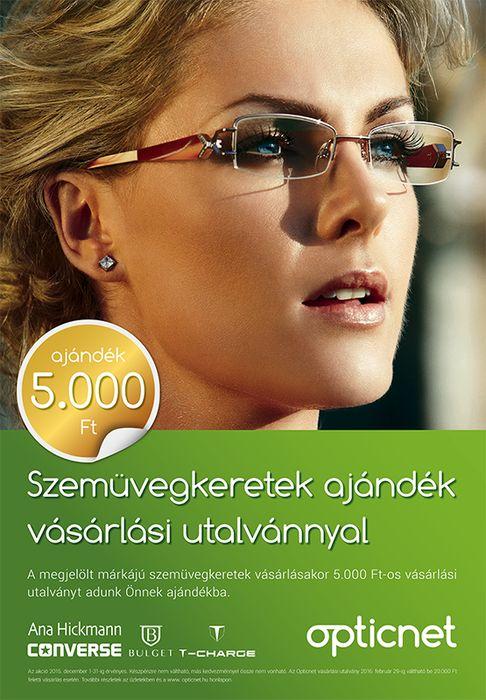 Szemüvegkeretek ajándék vásárlási utalvánnyal