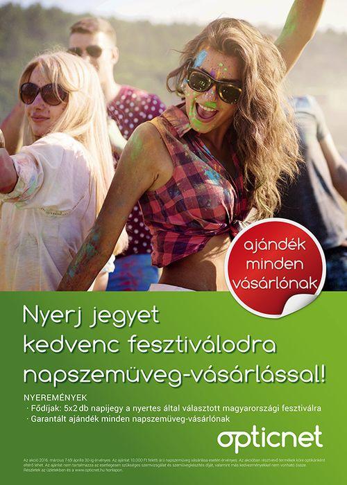 Nyerj fesztiváljegyet napszemüveg-vásárlással!