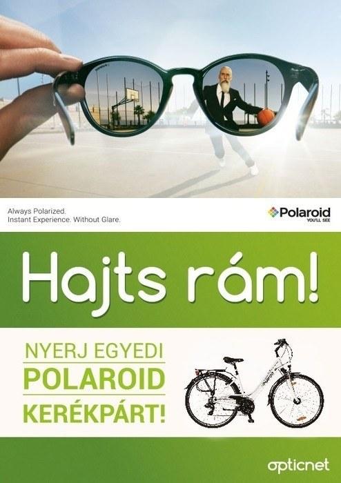 Nyerj egyedi kerékpárt Polaroid napszemüveggel
