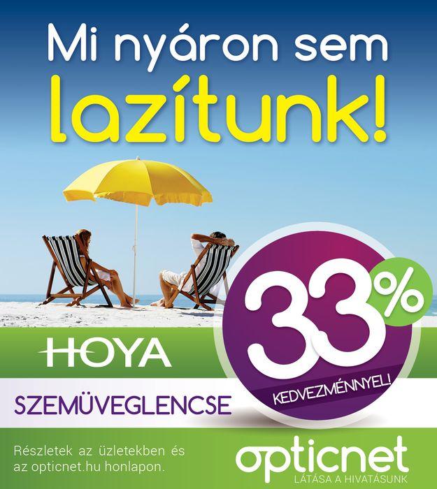 Hoya szemüveglencsék 33% kedvezménnyel
